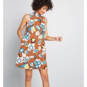 ModCloth In With Excitement Mock Neck Dress